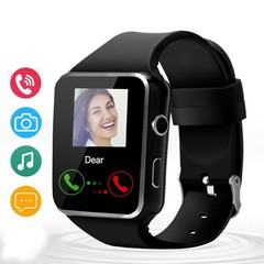 X6 Bluetooth Smart Watch 16GB Support Micro SIM Card Camera Video for Android S Black