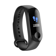 Color Screen Smart Watch Fitness Tracker Bracelet IP68 Waterproof For Men Women Sport watches Black