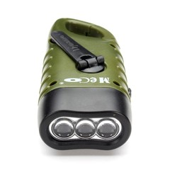 Mini Emergency Hand Crank Dynamo Flashlight Rechargeable LED Light  Powerful Torch For Camping Green Outdoor