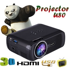 New 1080P Portable HD LED 3D Projector Android Mini WIFI Smart Projector Home Cinema Theater Black one size