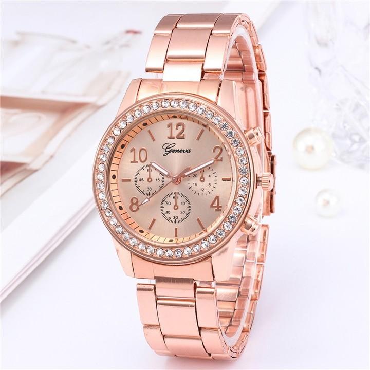 Geneva Brand Fashion Wrist Watch Women Rhinestone Wristwatches