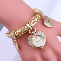 Fashion Wrist Watch Women Rhinestone Shiny Diamond Bracelet Jewellery Wrist Watches Gold