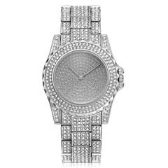 Women Fashion Wrist Watch Rhinestone Diamond Wristwatches Ladies Classic Luxury Quartz Watches Silver