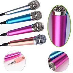 Fashion Mini Phone Microphone New Mini Karaoke Condenser Microphone For Phone Computer Tablet Random one size normal as shown