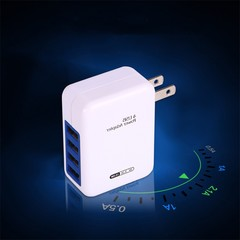 Portable Home Travel Wall Charger US Plug AC Power 3.1A 4 Port USB Adapter White one size