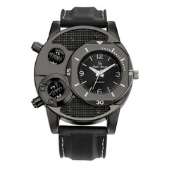 Fashion Men's Watch Casual Creative Design Sport Wristwatch Quartz Watch Black
