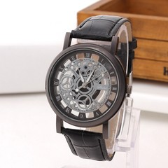 Fashion Electronic Watches Unisex Hollow Belt Watches Black