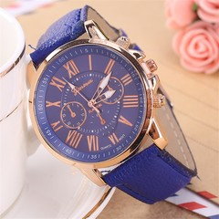 Fashion Women Watch Geneva Belt Roman scale female Wristwatch Blue