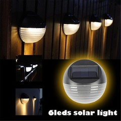 Solar Wall Light 6LED Outdoor Waterproof Solar Street Light Water Ripple Solar Wall Light