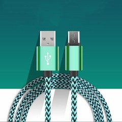 Nylon Braided Micro-USB/Type-C/Lightning Charger Data Cable For Android iPhone Micro-USB 100cm