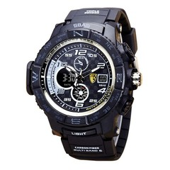 New Fashion Men Sports Watch Deep Waterproof Diving Luminous multi-function electronic Wrist Watch Black