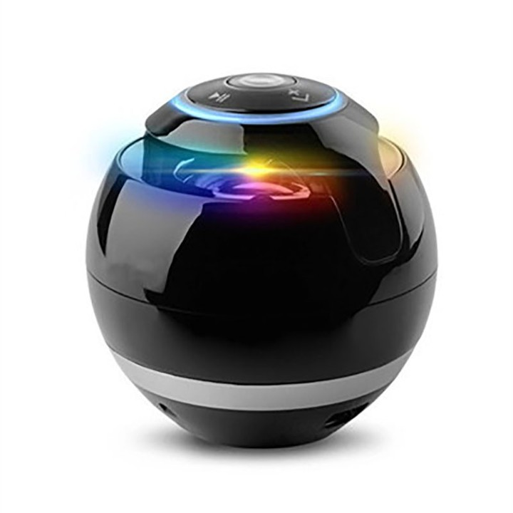 Bluetooth Speakers With Subwoofer Mini Round Hi-Fi Speaker Portable Hands-Free TF Card Music Player Black one size