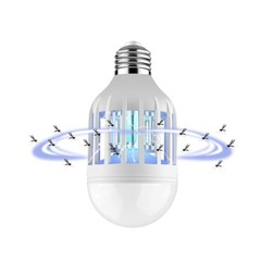E27 15W Anti-Mosquito Electronic Pest Control light Bulb Flying Moths Killer lamp UV Trap Blue 15W as shown