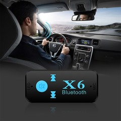 X6 Bluetooth Receiver AUX Car Bluetooth Audio Receiver Adapter TF Card Handsfree Bluetooth Call MP3