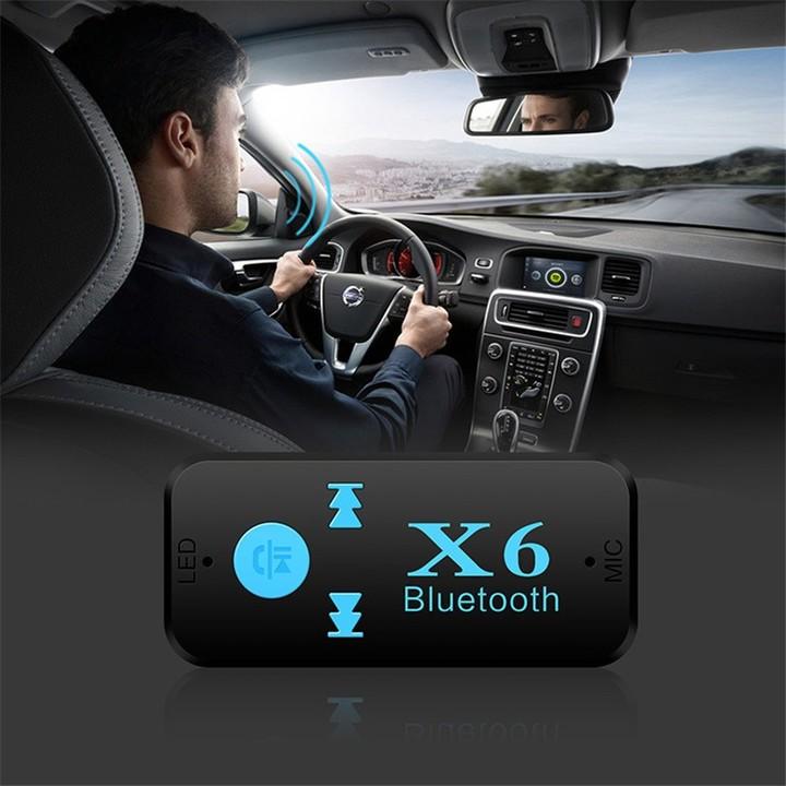 X6 Bluetooth Receiver AUX Car Bluetooth Audio Receiver Adapter TF Card Handsfree Bluetooth Call MP3