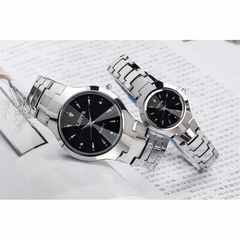 LSVTR Brand Fashion Couples Wrist Watches Men Women Lovers Waterproof Quartz Wristwatches 2pcs Set Black