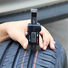 Digital Depth Gauge Electronic LCD Tire Tyre Wheel Tread Depth Brake Gauge Measuring Tools