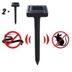 2 pcs solar mole repeller, ultrasonic electronic drive away, mouse, snake insect for outdoor garden