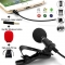 Lavalier Lapel Microphone Mic Perfect for Recording Podcast Good effect of Noise Cancelling black perfect high quality