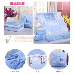 Two use Pillow Quilt Multi-function Folding Small Blanket Car Bedroom Office home Against the cold spotlight on paris style Size:40x40cm,Expand 110*150cm Quilt