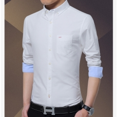 Men's business shirt High-grade 100% pure cotton Oxford shirt short sleeves white m
