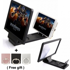 Mobile Phone HD 3D Screen Magnifier Bracket Enlarge Stand for all phones black one size one model not