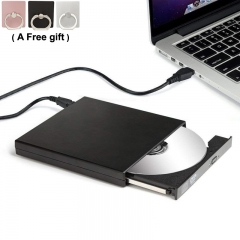 External DVD Drive USB 2.0 CD-RW ROM Combine Drive/Writer/Player for Desktops Notebooks Mac Book Black