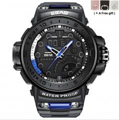 Men's Smart Watch Multifunction 30 meters Waterproof Electronic Watch Men Sports Watch black and blue