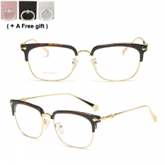 Titanium alloy semi frame glasses ultra light 20 g heavy high toughness adjustable style 1