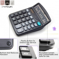 Basic Calculator Dual Power Desktop Calculator with Large LCD Display Sensitive Button