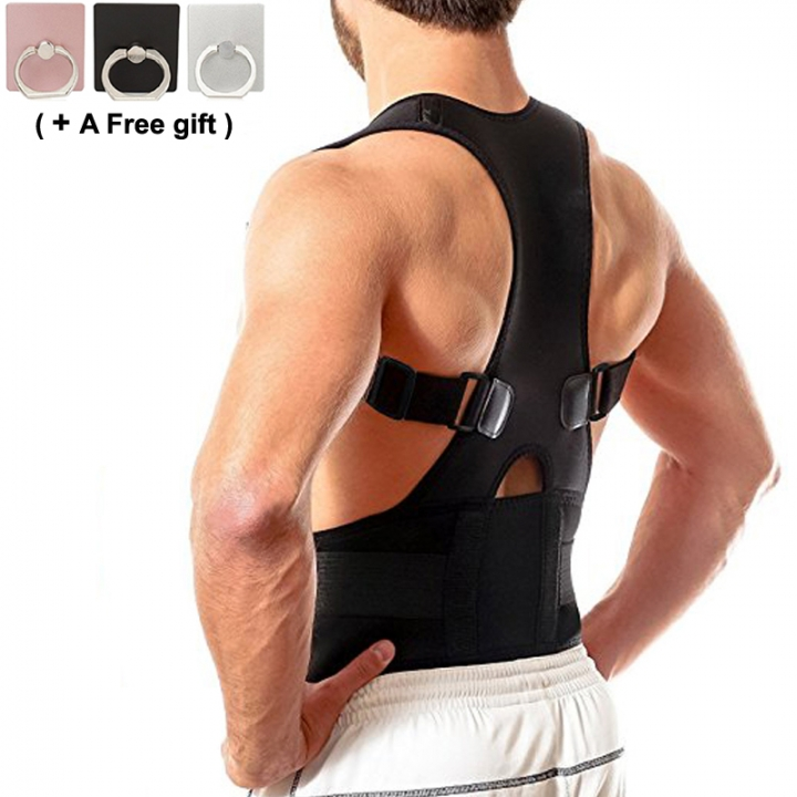 Back Brace Posture Corrector Improves Posture Corrector Support Belts For Upper Back Pain Relief black Size-s