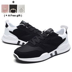 Leisure fashion sneakers Running shoes Antiskid shoe student and men gift black 40