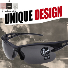 Cycling sunglasses for men and women Outdoor Sports glasses Grey and black black one size
