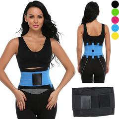 Unisex Hot Sport Waist Trainer Neoprene Belt Tummy Slimming Shaper Fat Burner Power Belt black m