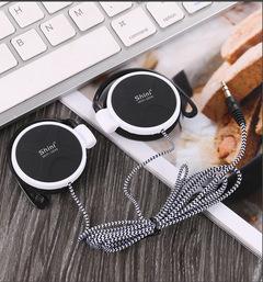3.5mm Sport Headset Ear Hook Stereo Earphone Headphone for Cellphone white