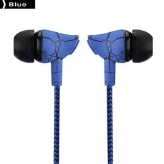 In-ear Style 3.5mm Super Bass Universal Wired Sport Earphone with Microphone blue