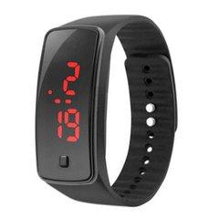 LED Jelly Gel Silicon Bracelet Wrist Watches black