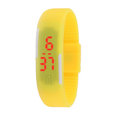 Ultra Thin LED Watch Bracelet Silicone Waterproof Digital Fashion Gym Running Sports Wrist Watches yellow