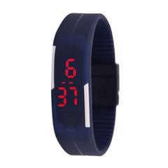 Ultra Thin LED Watch Bracelet Silicone Waterproof Digital Fashion Gym Running Sports Wrist Watches black