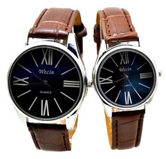 Pack Of 2/Set Couple Watches Quartz Wrist Waterproof Watch for Men Women black