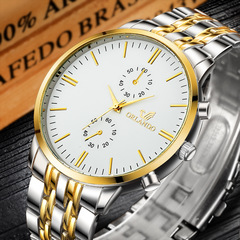 Men Brand Fashion Business Watch Waterproof Male Classic Quartz Watch white