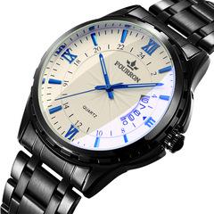 Quartz Wristwatches Luxury Business Watch balck + blue