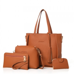 Top-Handle Big Capacity Female Fashion Shoulder Bag Purse Ladies PU Leather Crossbody Bag brown 26cm x 25cm x 8cm