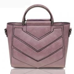 Pu Leather Handbag Shoulder Tote Women Bag Satchel Messenger Crossbody Bags Soft gray 23cm x20cm x10cm