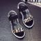 New Gladiator Women shoes Roman sandals shoes Women sandals peep-toe flat Shoes woman sandalias Leopard Print 40