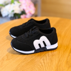 Top Selling Children Shoes Boys And Girls Fashion Sports Casual Shoes Kids Breathable Sneakers black 21