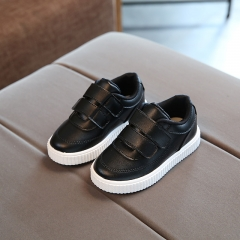 2018 child casual leather boots male female soft outsole shoes baby sport shoes children toddler black 21