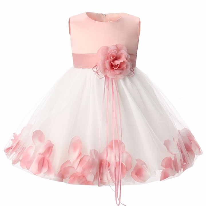 e49af29b69bb3 Newborn Baby Girl 1 Year Birthday Dress Girl Christening Dress Infant  Princess Party Dresses For pink S
