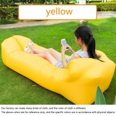 Fast Infaltable Air Sofa Bed Good Quality Sleeping Bag Inflatable Air Bag Lazy bag Beach Sofa Laybag yellow 240cm×70cm