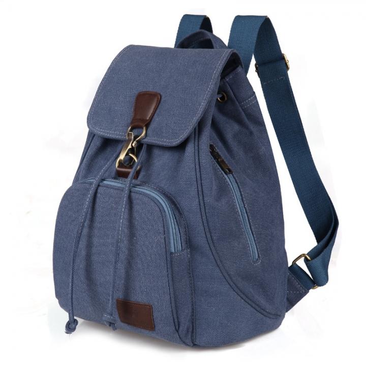 07b24bd2b2f Female women canvas backpack preppy style school Lady girl student school  laptop bag blue 30cm×15cm×40cm